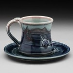 Cup and Saucer Pottery Nancy Zoller