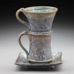 Strainer and Cup Pottery by Nancy Zoller