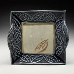 Nancy Zoller Pottery Raised Leaf Square Plate