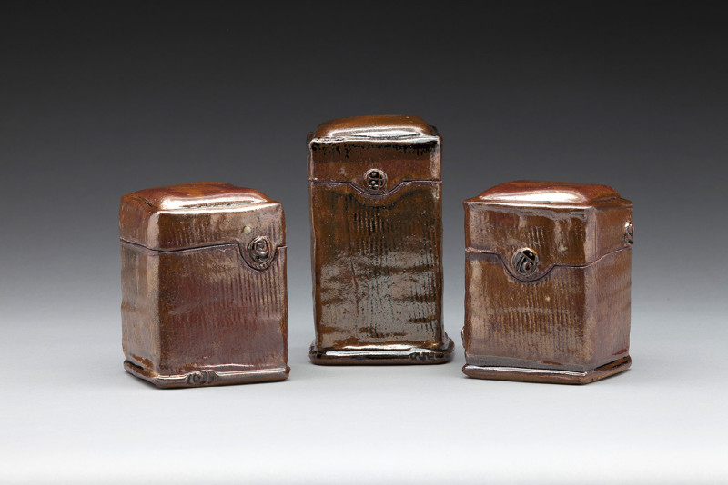 Three Canisters by Nancy Zoller Pottery