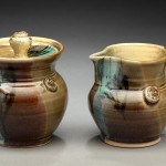 Cream and Sugar Pottery Set by Nancy Zoller