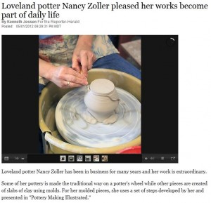 Featured Article: Loveland Reporter Herald Everyday Clay Art